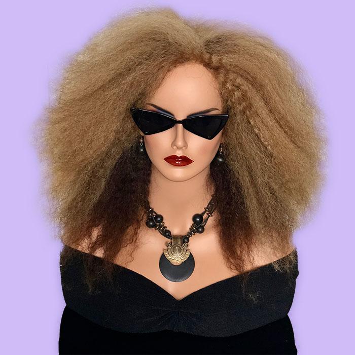 Custom Hair System Kinky Malaysian Hair