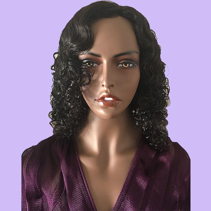 Curly Black Hair System