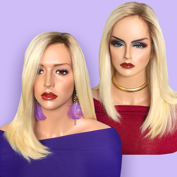 Two Blonde Hair Systems