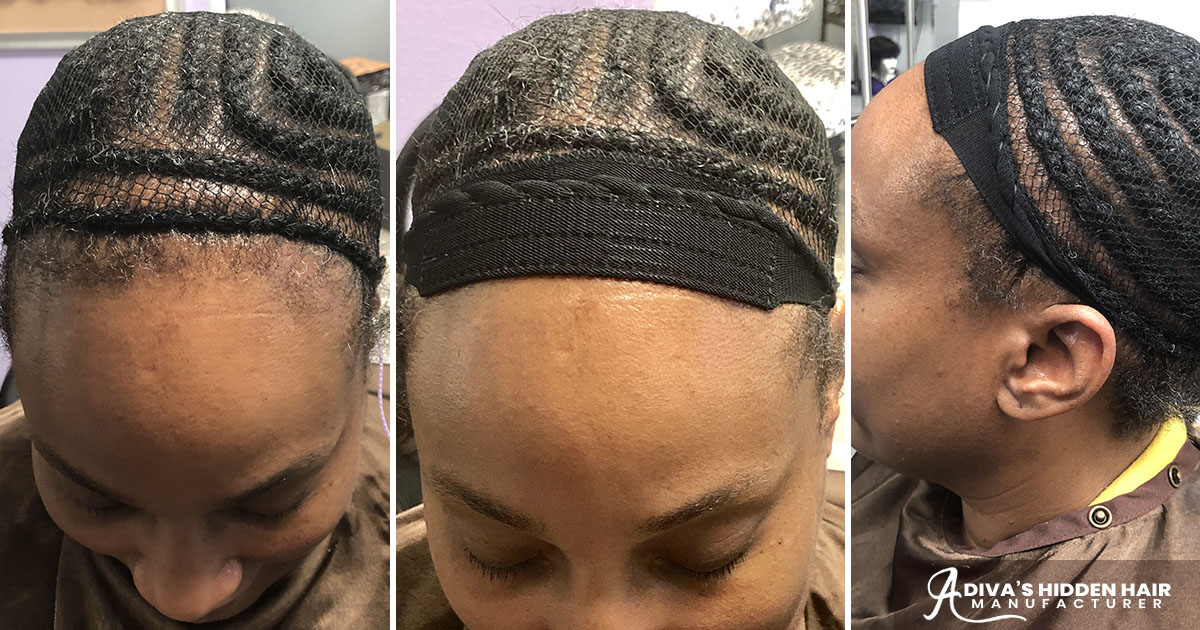 Invisible Part Quick Weave With Side Bang   Foto Bugil ...  Hair Nets For Sew Ins