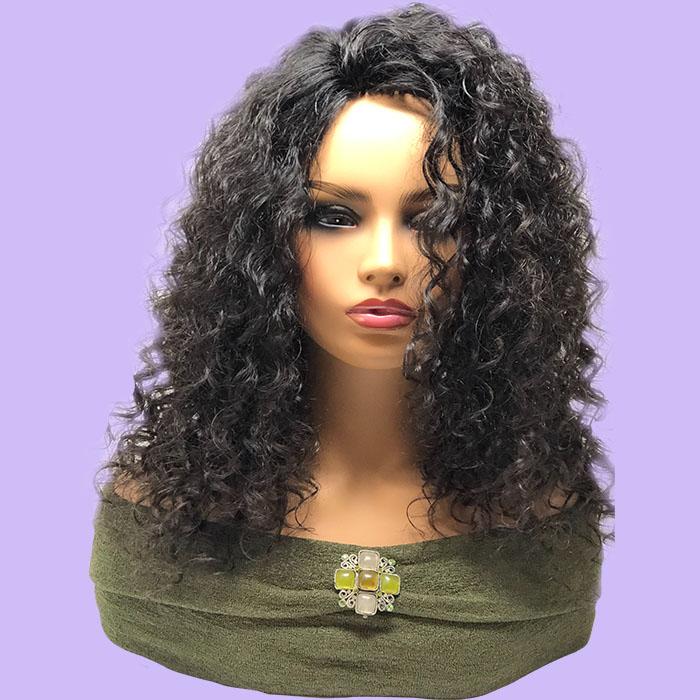 Long Black Soft Wavy Hair System