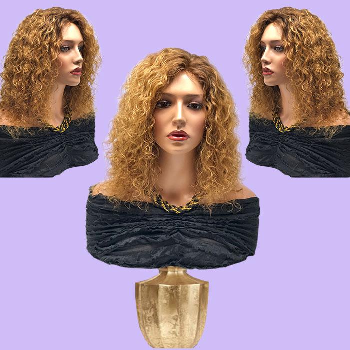 Medium Blonde Long Wavy Hair System