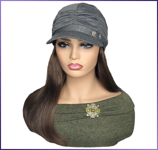Hats with Hair Attached for Chemo Treatment