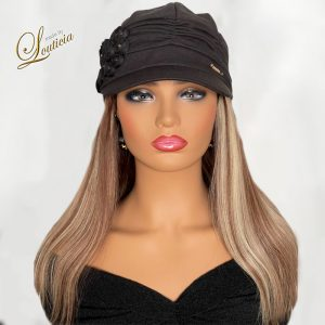 """Women's Fashion Hats With Straight 16"""" Blonde Hair"""
